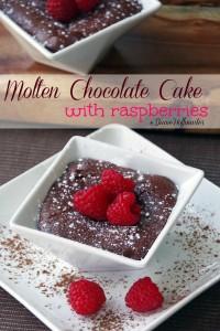 Molten Chocolate Cake Recipe with Raspberries