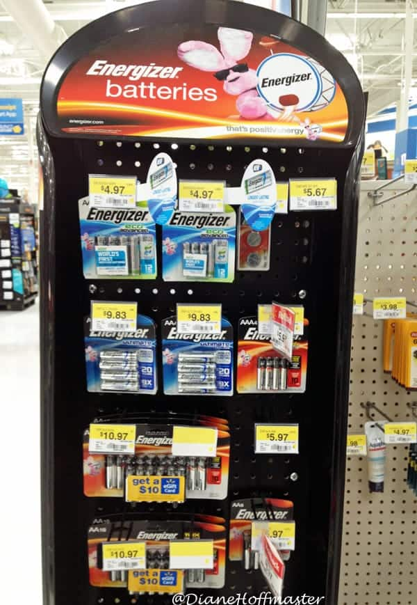 Energizer Eco Friendly Batteries at Walmart