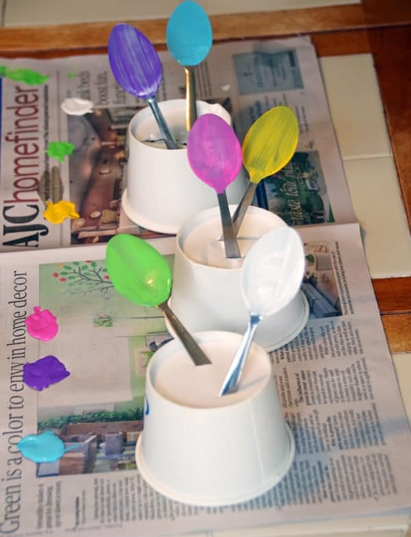 Garden Markers Spoons Crafts 2