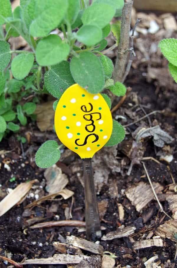 Garden Markers Spoons Crafts 5