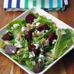 Roasted Beet Salad with Blue Cheese and Walnuts 2