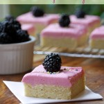 Sugar Cookie Bars with Blackberry Frosting