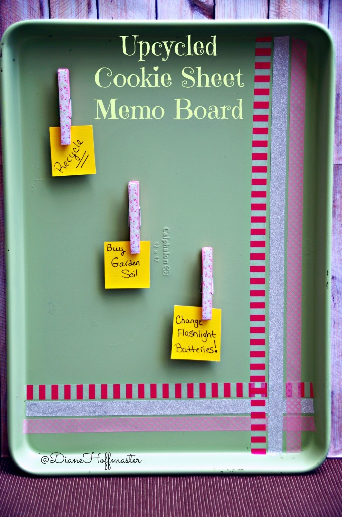 Upcycled Cookie Sheet Memo Board Craft Final