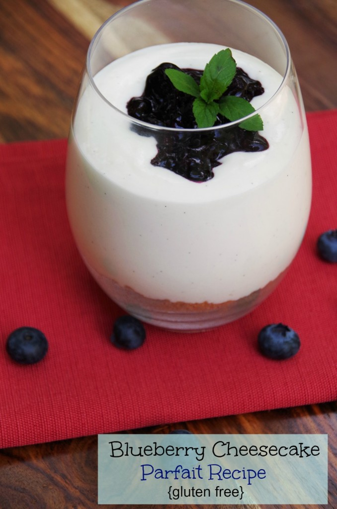 Blueberry Cheesecake Parfait Recipe makes a delicious gluten free dessert recipe! 2