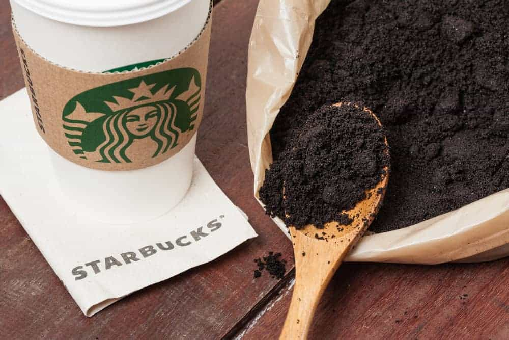 starbucks coffee grounds for gardening