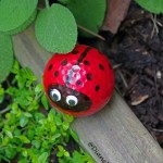 Easy Garden Craft Golf Ball Lady Bug