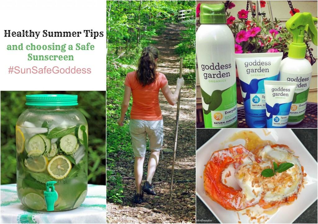 Healthy Summer Tips and Goddess Garden Review #SunSafeGoddess