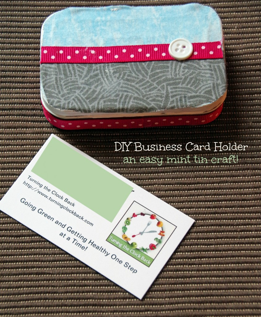 DIY Business Card Holder made out of Altoid tins