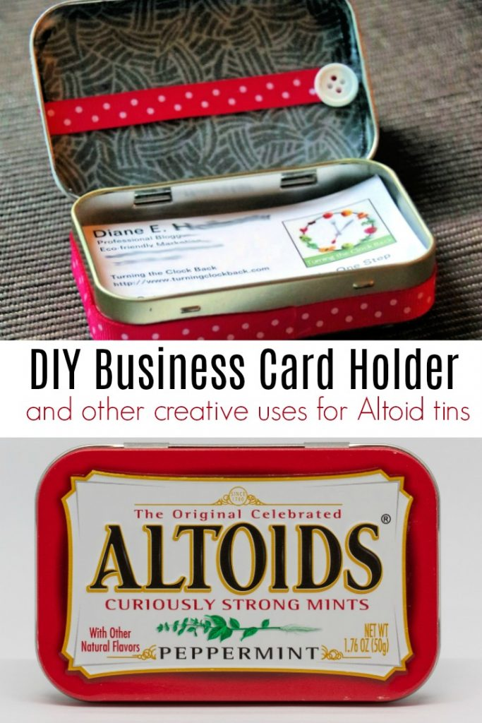 DIY Business Card Holder and Other Uses for Altoid Tins