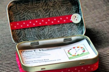 DIY business card holder from an upcycled Altoid tin