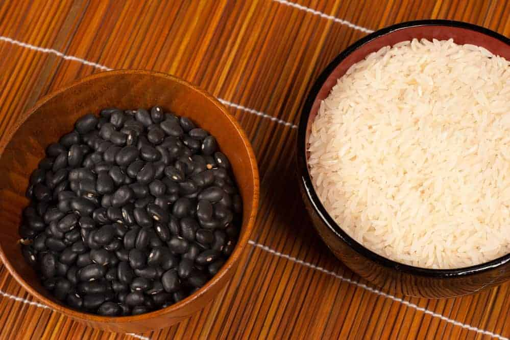 Central American food basics, frijoles and rice