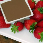 Mexican Chocolate Dipping Sauce with Fresh Strawberries