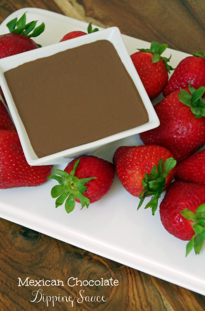 Mexican Chocolate Dipping Sauce with Fresh Strawberries 2
