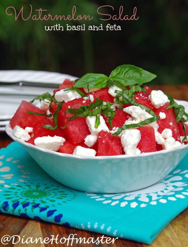 Watermelon Salad Recipe with Basil and Feta 5