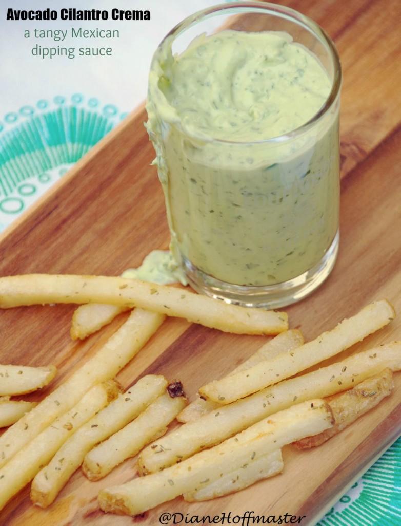Avocoado Cilantro Crema Recipe is a tangy and delicious Mexican dipping sauce