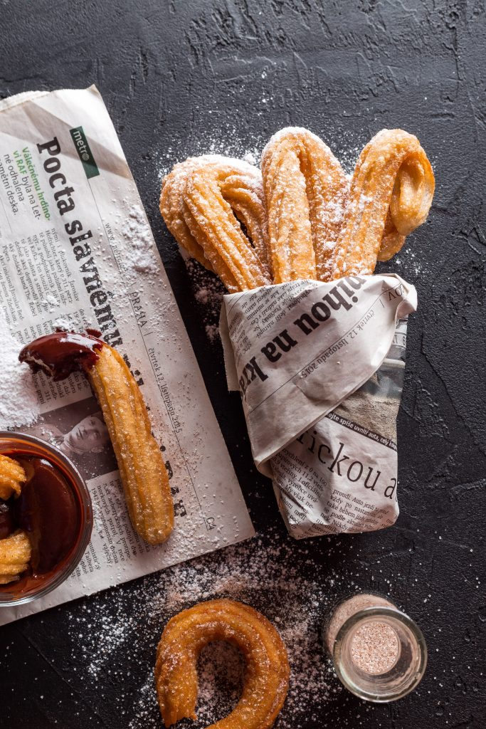 Homemade Churros with Mexican Chocolate Dipping Sauce