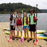 Stand up paddleboarding at Morgan Falls Overlook Park