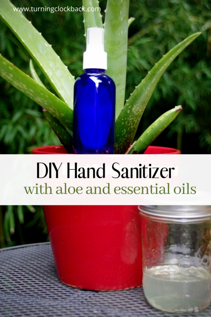 DIY Hand Sanitizer with aloe and essential oils