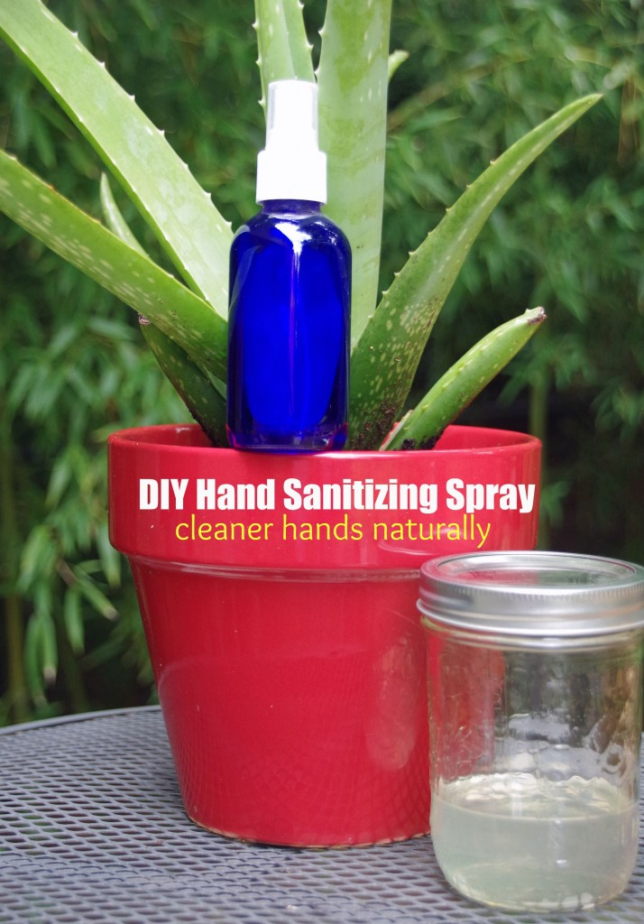 DIY Hand Sanitizing Spray with Aloe and Essential Oils