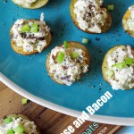 Blue Cheese and Bacon Stuffed Red Potato Appetizer