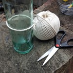 How to Cut a Glass Bottle in Half with String for Upcycled Crafts