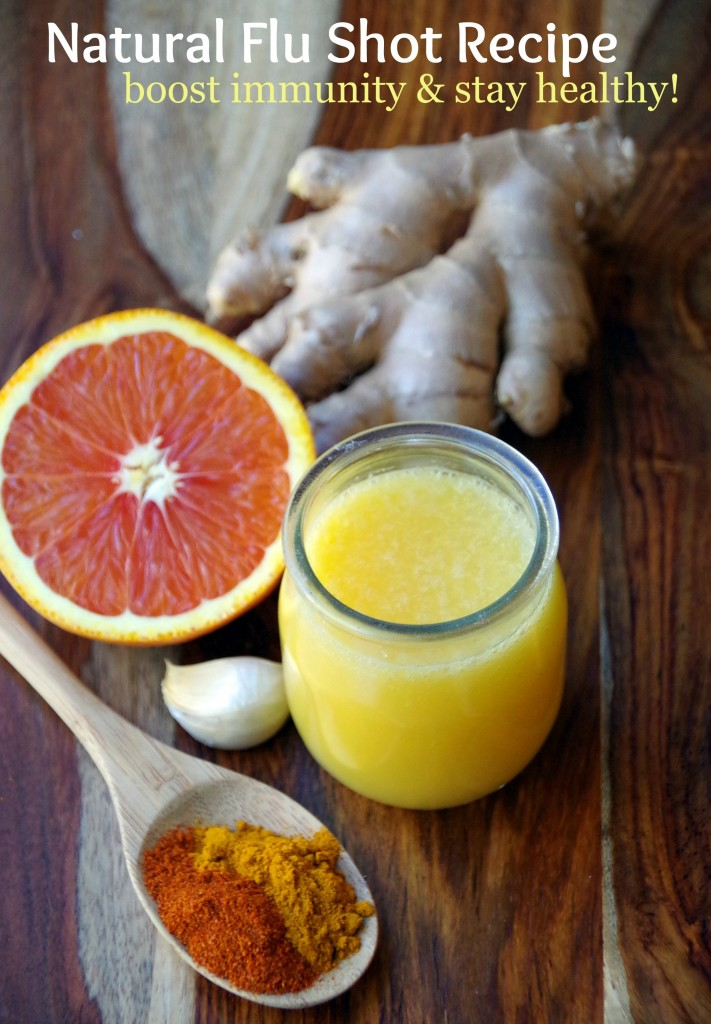 Easy Natural Flu Shot Recipe helps you boost immunity and stay healthier!