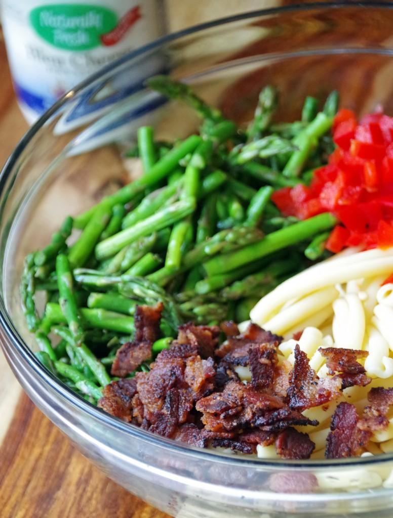 Asparagus Pasta Salad Ingredients