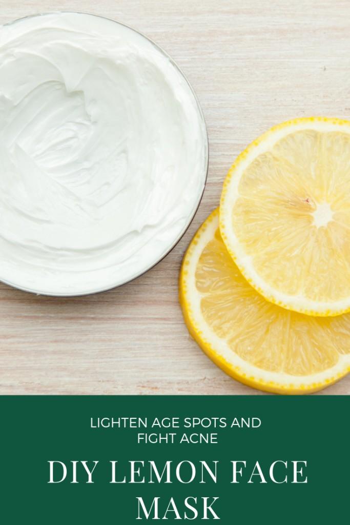 DIY Lemon Face Mask