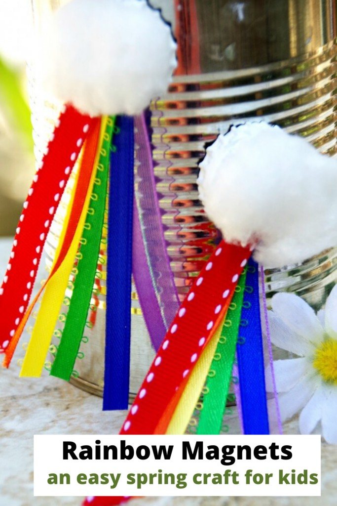 Rainbow Magnets are an easy spring craft for kids