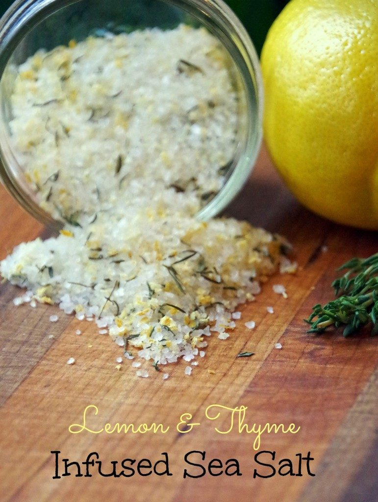 How to preserve fresh herbs and a lemon and thyme infused sea salt