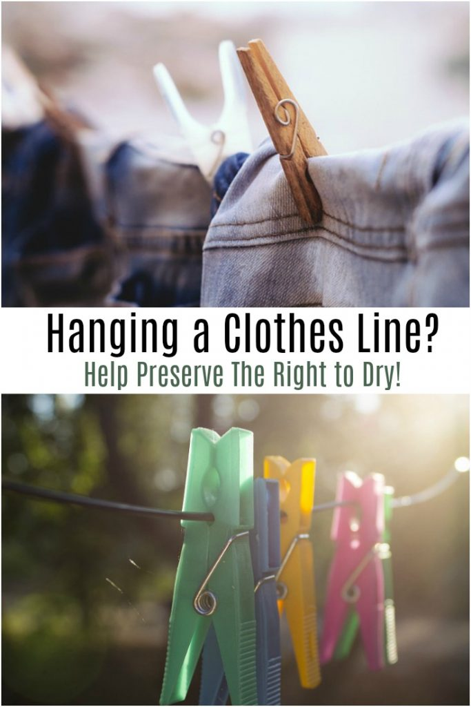 Hanging a Clothes Line? Help Preserve The Right to Dry!