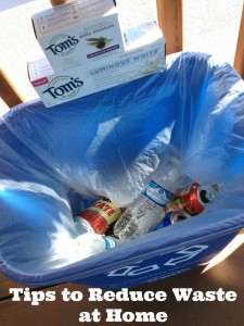 How to Reduce Waste at Home and a Toms of Maine Less Waste Challenge
