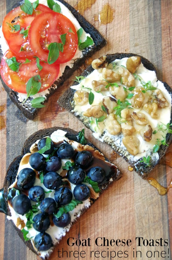 Goat Cheese Toasts Make an Easy Appetizer Recipe
