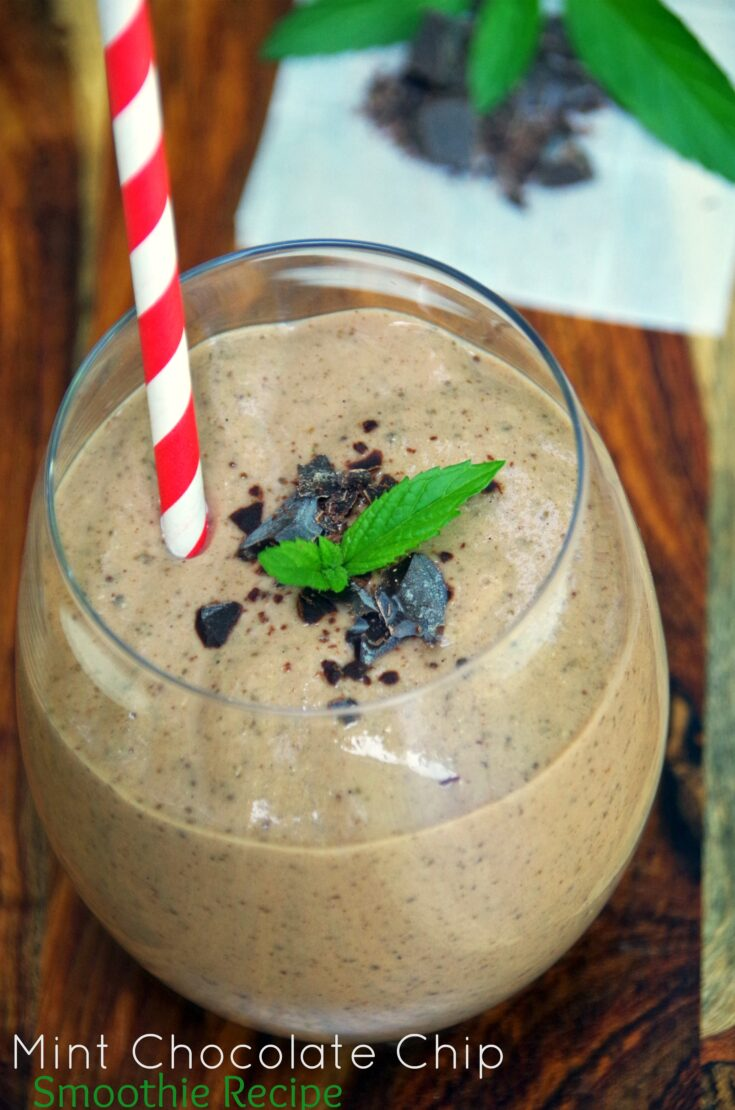 Want healthy protein smoothies? Try this Healthy Mint Chocolate Chip Protein Smoothie Recipe
