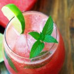 Easy Watermelon Mojitos with Fresh Mint