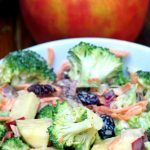 Creamy Broccoli Apple Salad Recipe with Walnuts