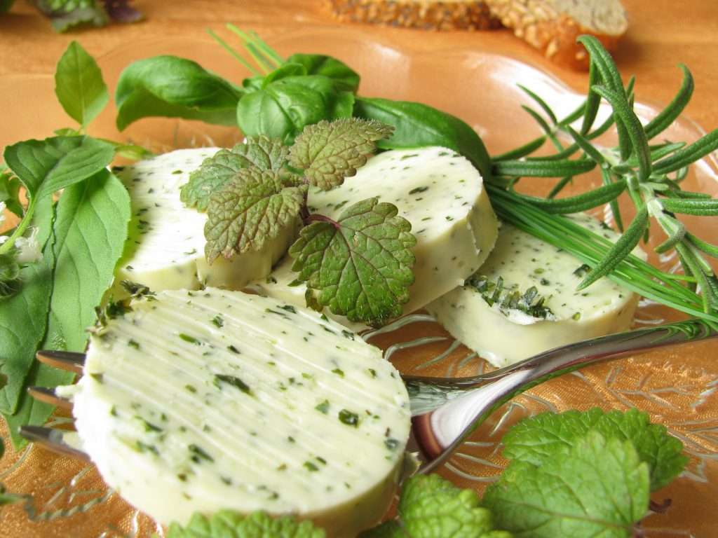 Lemon Balm Herb Butters and and other uses for lemon balm