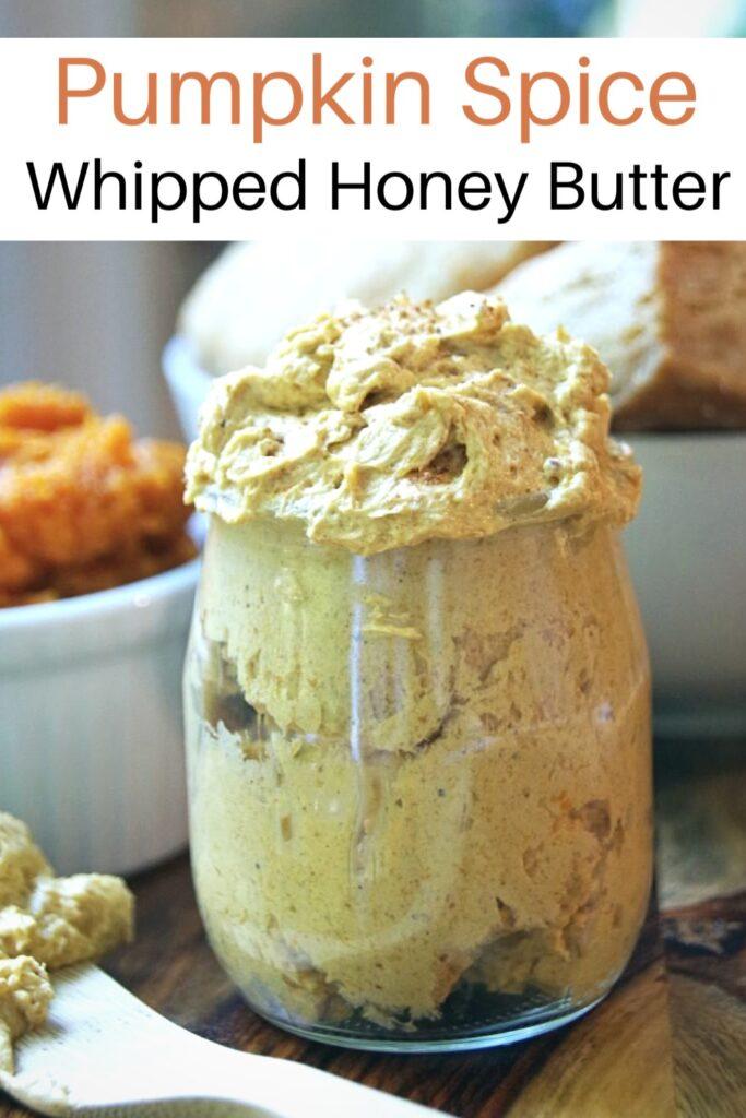 Jar of whipped pumpkin spice honey butter