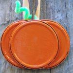 Easy Pumpkin Craft Idea Using Juice Can Lids