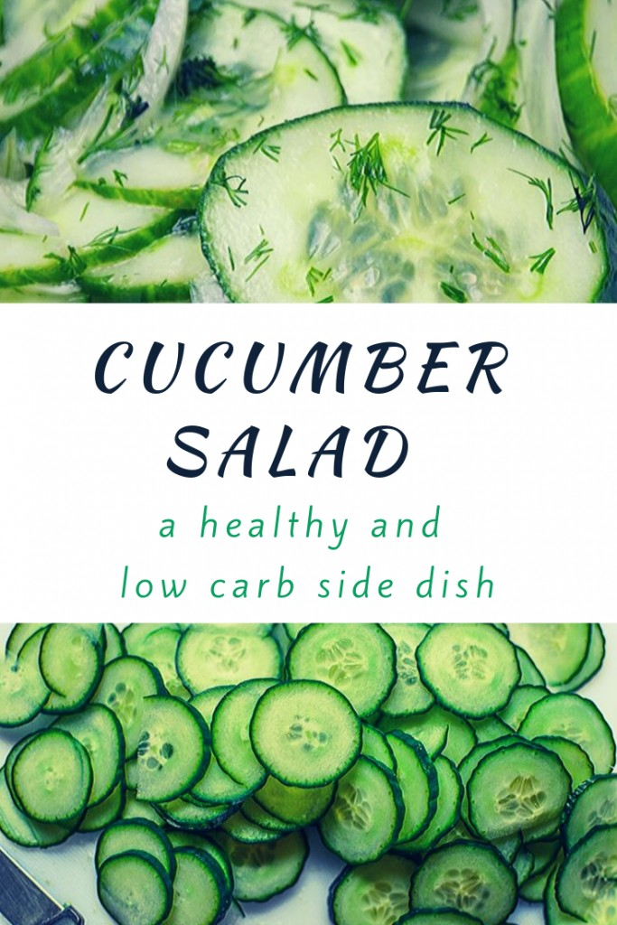 Cucumber Salad is a healthy and low carb side dish