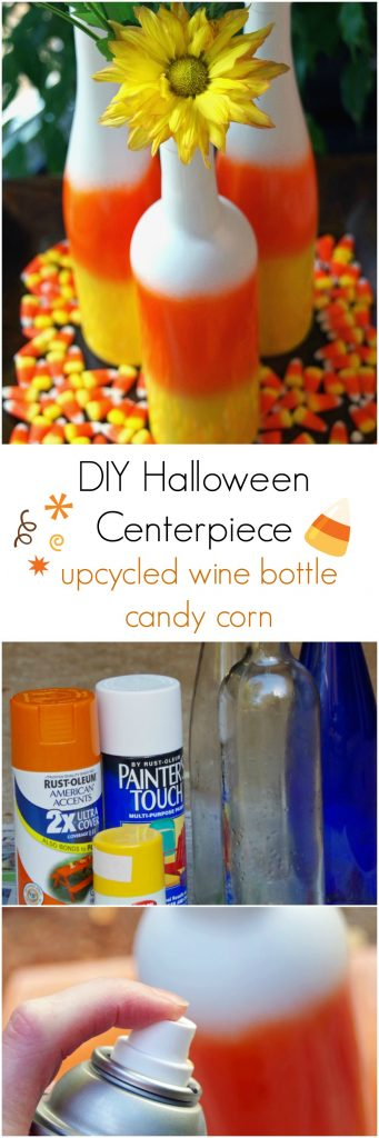 Need DIY Halloween Centerpieces? Make Upcycled Wine Bottle