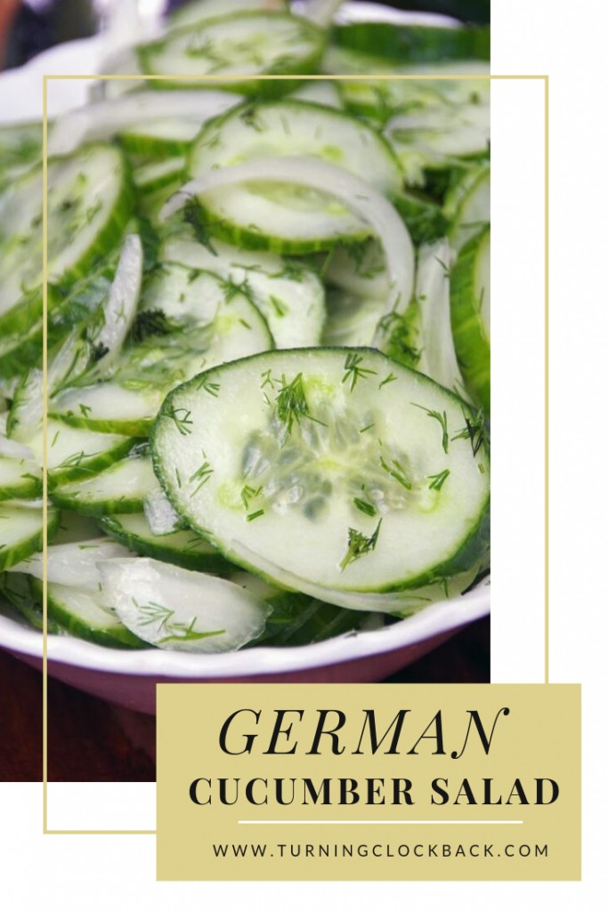 German cucumber salad is a low carb, healthy side dish that takes only a few minutes to make