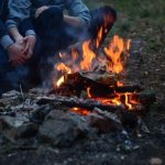 campfire and wood ashes