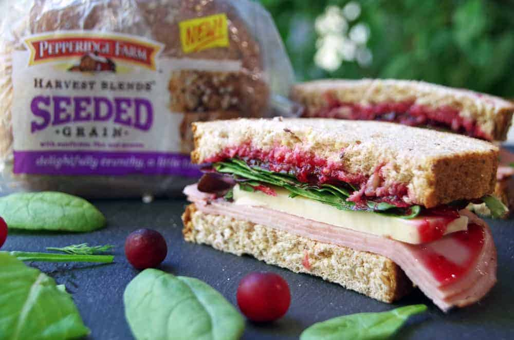 Use Cranberry Sauce Leftovers in This Easy Sandwich Recipe! A delicious ham sandwich recipe the uses up a few of those holiday leftovers!