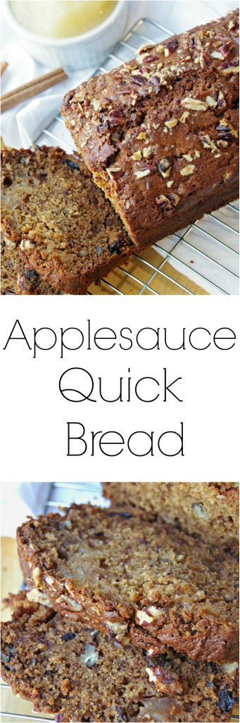 Applesauce Quick Bread Recipe and the Benefits of Healthy Snacking
