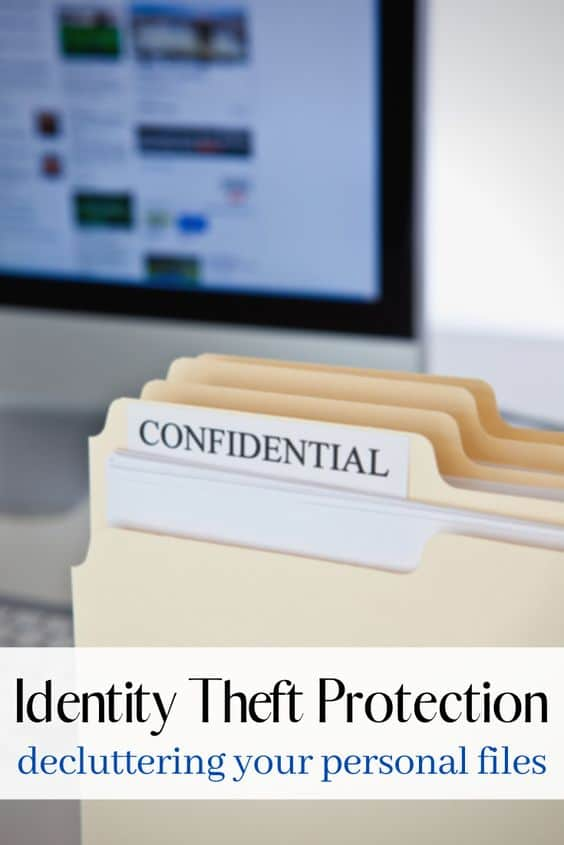 Identity theft protection and decluttering your home office