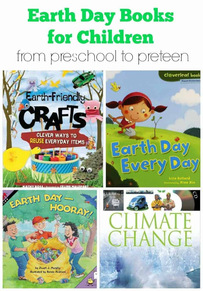Earth Day Books for Children from preschool to preteen