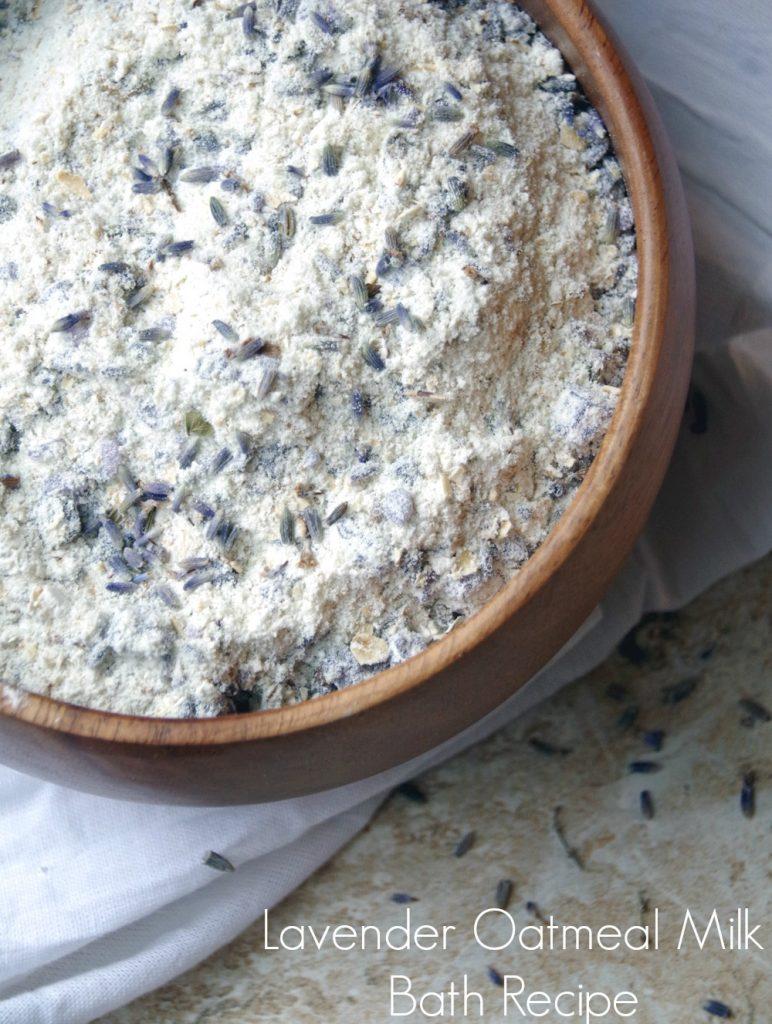 Lavender DIY Oatmeal Milk Bath Recipe