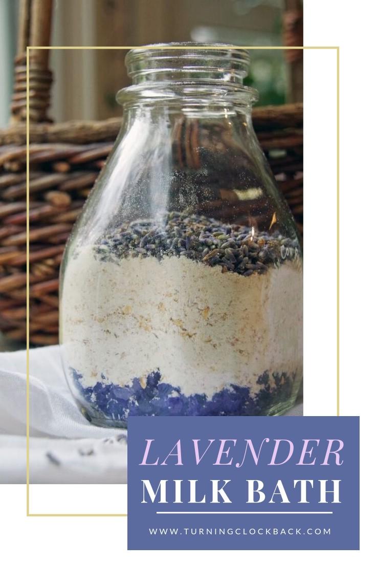 Homemade Lavender Milk Bath Recipe