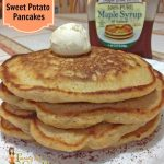Sweet Potato Pancakes with Cinnamon Honey Butter